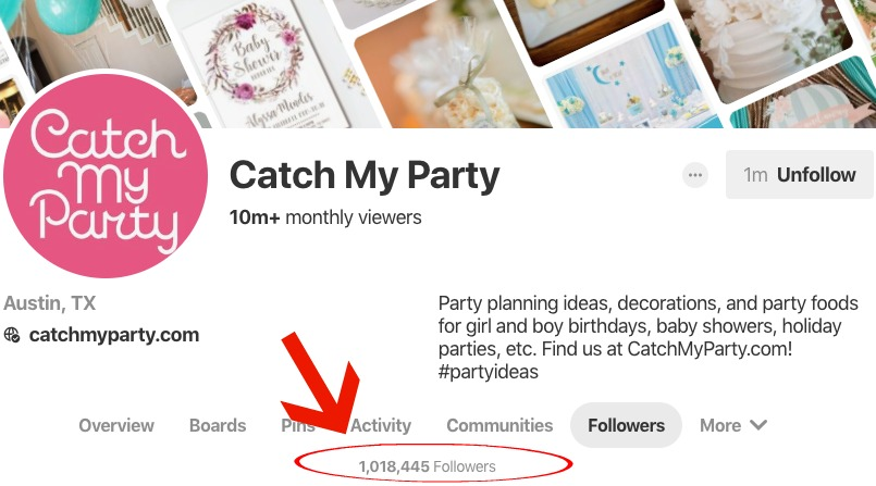 catch-my-party-pinterest-followers